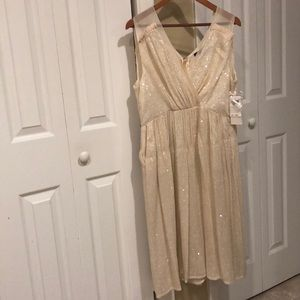 French Connection Sequined Dress w/ Pockets